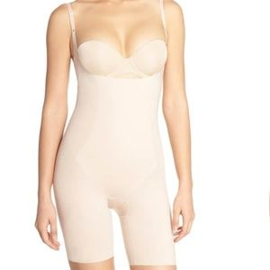 Thinstincts Open Bust Mid Thigh Bodysuit